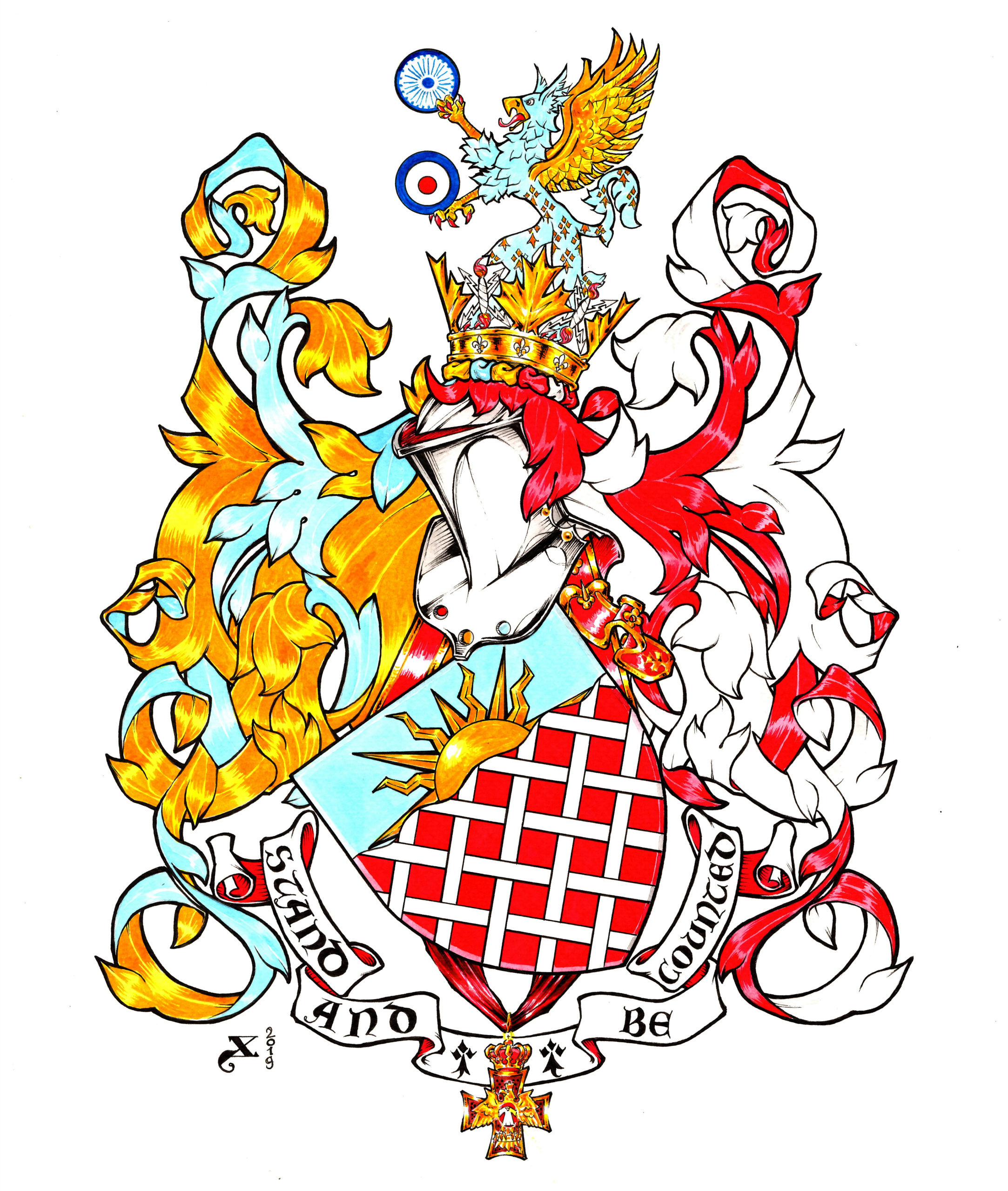 Coat of arms: Chas Charles Dunne
